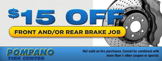 $15 Off Brake Service