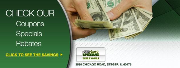 Scotts U Save Tire and Wheels Savings