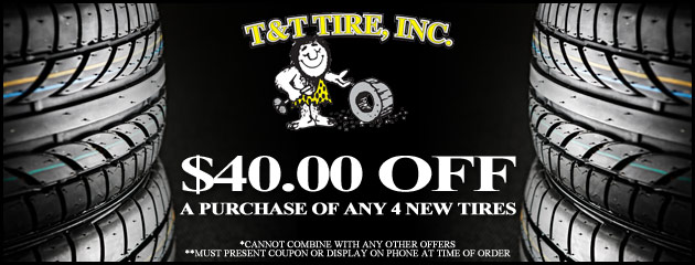 $40 off any 4 tires
