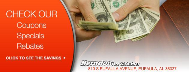 Herndon Tire & Muffler Savings